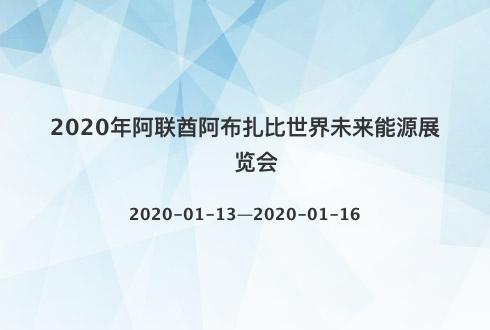 2020年阿联酋阿布扎比世界未来能源展览会