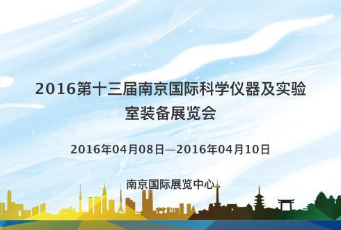 2016第十三届南京国际科学仪器及实验室装备展览会