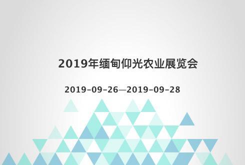 2019年缅甸仰光农业展览会