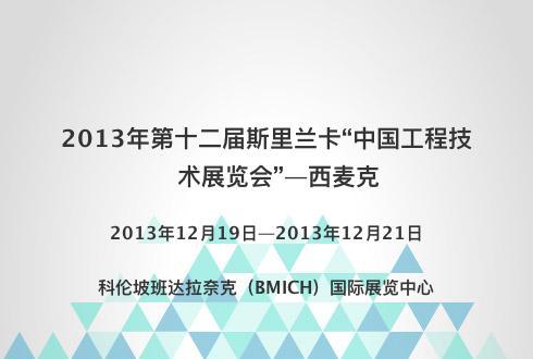 """2013年第十二届斯里兰卡""""中国工程技术展览会""""—西麦克"""