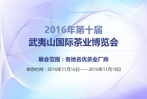 2016年福建第十届武夷山国际茶业博览会
