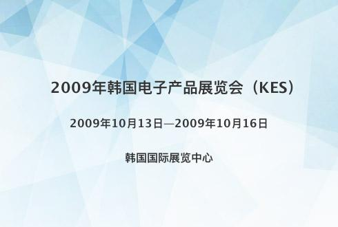 2009年韩国电子产品展览会(KES)