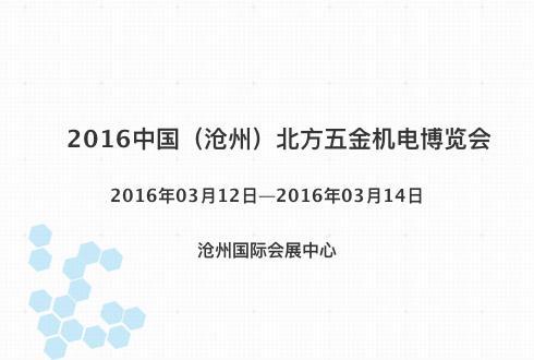 2016中国(沧州)北方五金机电博览会