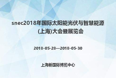 snec2018年国际太阳能光伏与智慧能源(上海)大会暨展览会