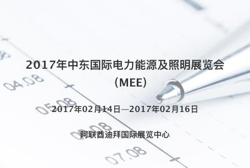 2017年中东国际电力能源及照明展览会(MEE)