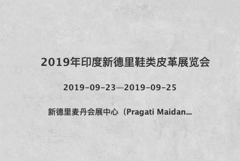 2019年印度新德里鞋类皮革展览会