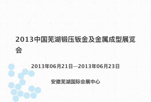 2013中国芜湖锻压钣金及金属成型展览会