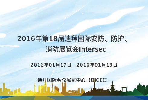 2016年第18届迪拜国际安防、防护、消防展览会Intersec