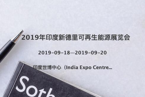 2019年印度新德里可再生能源展覽會
