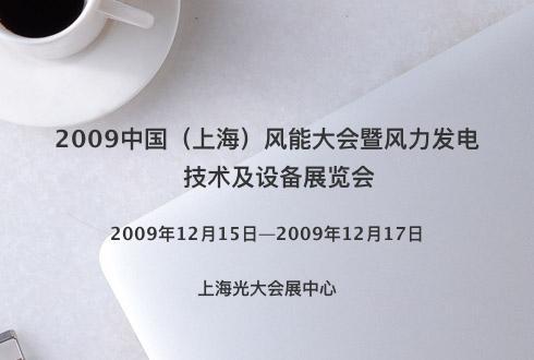 2009中国(上海)风能大会暨风力发电技术及设备展览会