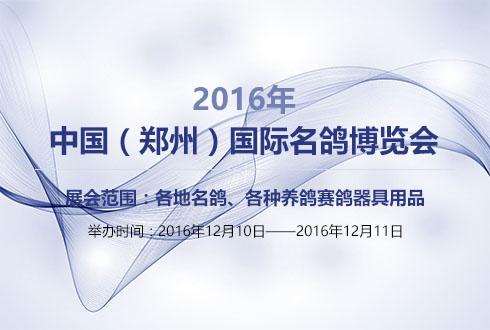 2016年河南中国(郑州)国际名鸽博览会